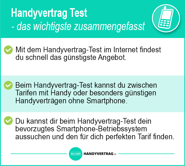 Handyvertrag Test